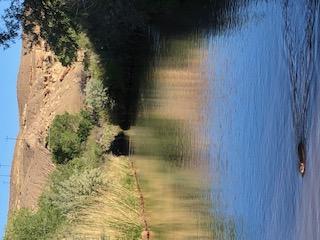 Raw wild scenic desert campsite along a river